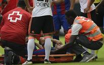 Tearful Andres Iniesta out for six to eight weeks with ligament damage