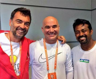 1996 Olympics reunion: Paes catches up with Agassi, Bruguera at French Open