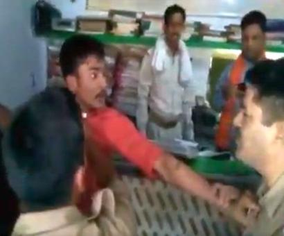 Bragging political links, SP leader's nephew slaps police officer