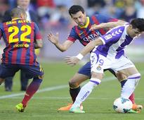 Barcelona loses 1-0 at Valladolid ahead of City
