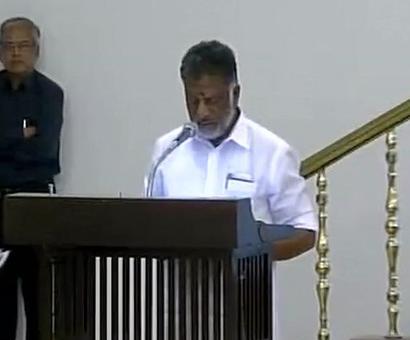O Panneerselvam sworn in as Tamil Nadu CM