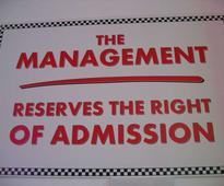 Rights of Admission Reserved - the struggle to get in with the in crowd