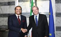 Qatari Foreign Minister Holds Talks with Italian Counterpart