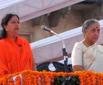 Vasundhara swearing-in, a show of strength