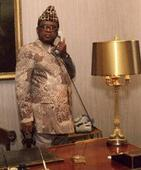 Where is Mobutu's statue?