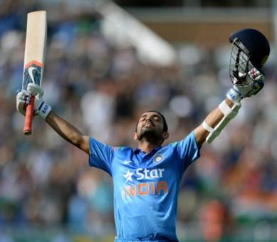Rahane leads India's demolition of England with maiden ton