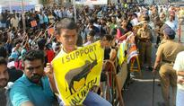 Alagiri's son, film director Gowthaman join Jallikattu protest in Madurai