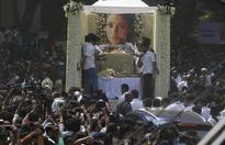 Live Sridevi funeral: India bids goodbye to its 'Chandini'