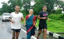 Milind Soman's Mom is as Cool as Him. She Runs With Him, Wearing a Sari