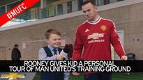 Wayne Rooney gives THAT Swansea mascot a tour of Manchester United's training ground