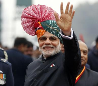 'Turbaned' Modi wins fashion war against the Obamas