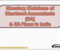 Database of Chartered Accountants (CA) & CA Firms in India