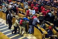 Fists fly in South African parliament over Jacob Zuma speech