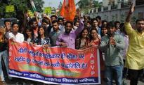 ABVP student leaders held a 'Boycott Made in China' march in Dehradun