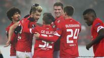 Europa League: Mainz restore pride, United battle through