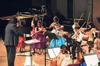 Students of the NCPA Symphony Orchestra of India