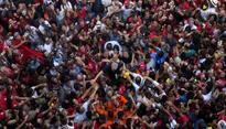 Fireworks, tears after ex-Brazilian president Lula's surrender