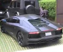 Closing Gate Hits Kanye's Aventador