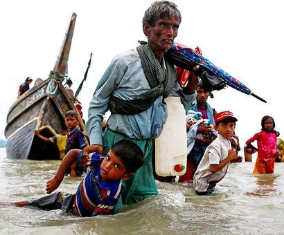 'India pushing Myanmar to take back Rohingya refugees'