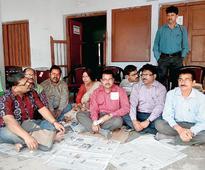 Teacher protest at Raiganj University