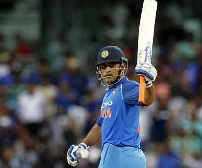 Another century for milestone man Dhoni...