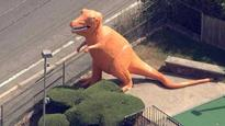 Iconic orange dinosaur in Mass. town saved from extinction