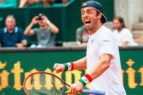 Lorenzi becomes oldest 1st-time ATP winner