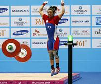 Taiwan, Kazakh weightlifters break world records in epic lifting battle at Asian Games