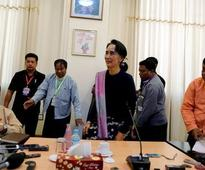 Myanmar's Suu Kyi lauds choice of ethnic and army-backed parliamentary speakers