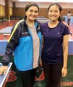 Trisha in Indian school TT team