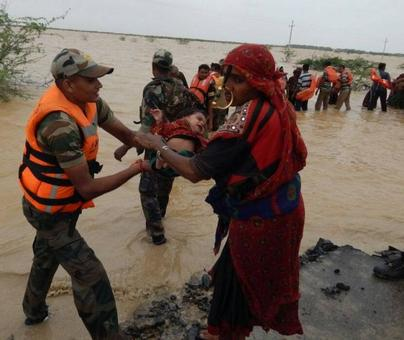 Army's daring rescue ops in flood-hit Gujarat, Rajasthan