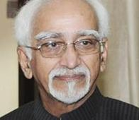 Hamid Ansari arrives in Taj...