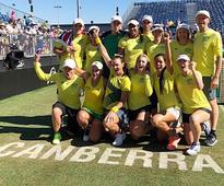 Fed Cup: Ashleigh Barty, Casey Dellacqua beat Nadiia and Lyudmyla Kichenok in doubles to help Australia pip Ukraine