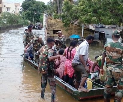 PHOTOS: Army, navy come to the rescue as rains pound Chennai