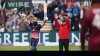 WATCH: England all-rounder Moeen Ali brings his 53-ball century with a six