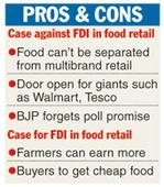 Traders protest FDI in food retail