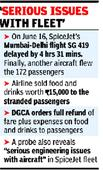 SpiceJet ordered to refund full fare for delayed flight