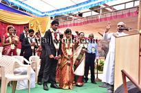 Mangaluru: Mass wedding - 19 couples enter wedlock at Rosario Cathedral