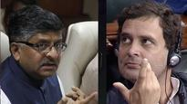 RS Prasad says Cambridge Analytica handled Rahul Gandhi's SM campaign, Cong calls its a 'blatant lie'