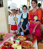 A variety of cuisines on display
