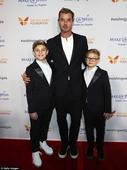 Gavin Rossdale has guys night out with sons Kingston and Zuma at charity gala