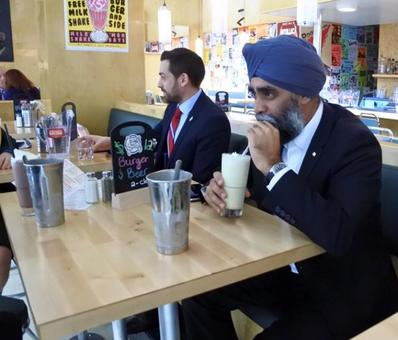 Now, a chicken burger named after Canada's Sikh defence minister