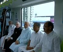 PM Modi inaugurates Kochi Metro, takes train ride with Kerala CM Vijayan, Metro Man Sreedharan