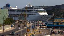 HAVANA PARTY American cruise ship  drops anchor in Cuba