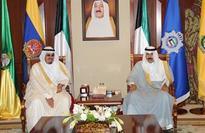His Highness Deputy Amir receives Sheikh Ahmad Al-Abdullah