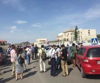 Kyrgyzstan blast: Three wounded as bomber drives through embassy gates before blowing up