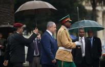 What was Netanyahu doing in Africa?