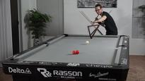 Watch this trick shot legend show off his pool prowess