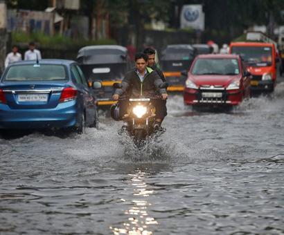 Rain batters Mumbai for 2nd consecutive day; rail, air traffic hit