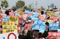 Protests against Abe mark Japan's Constitution Memorial Day